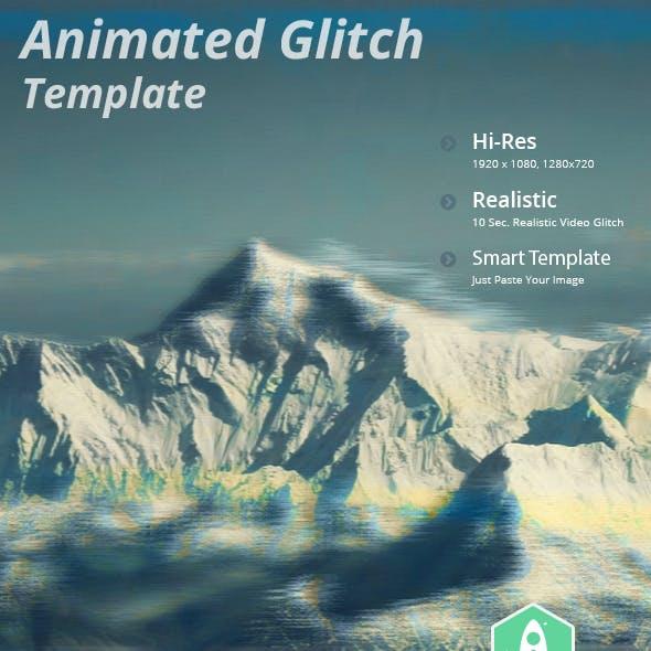 Animated Video Glitch Effect