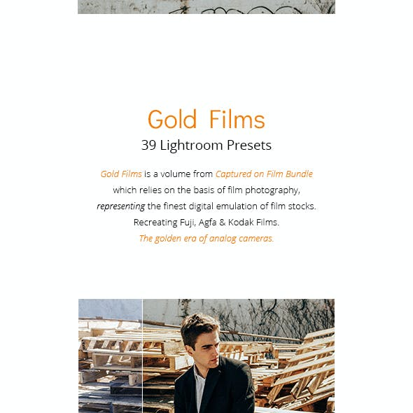39 Gold Films - Lightroom Presets