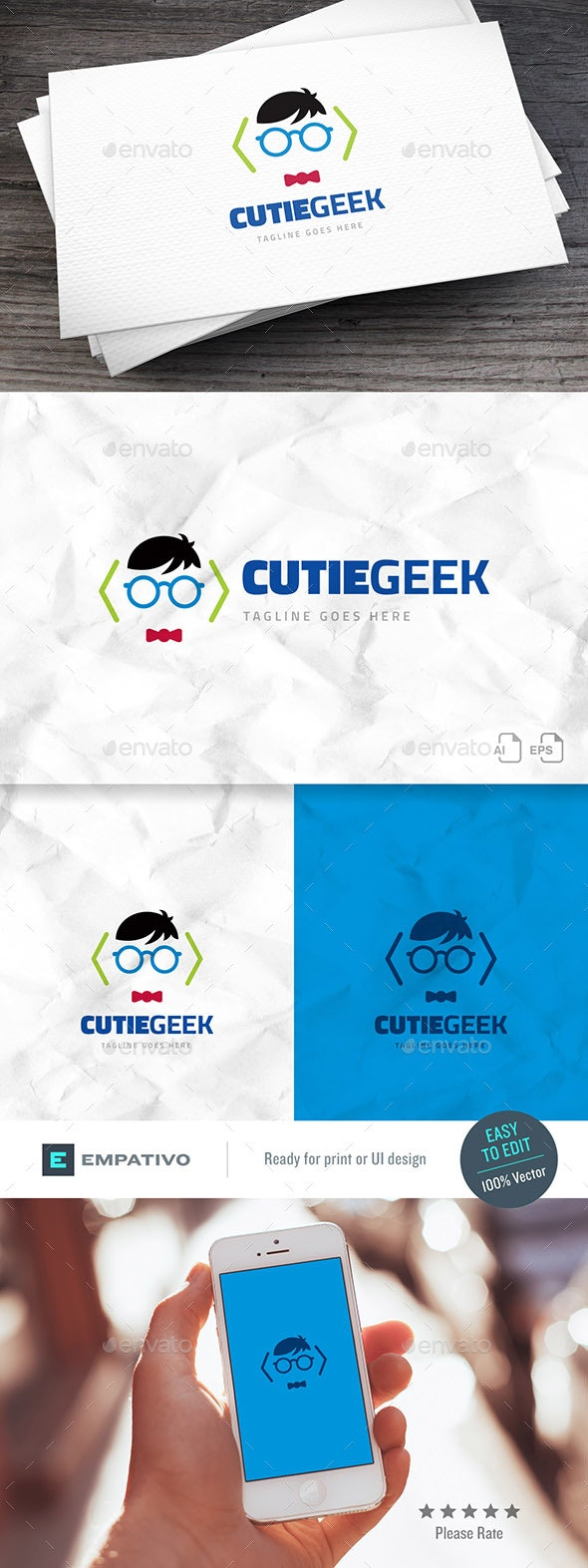 Cutiegeek Logo Template - Humans Logo Templates