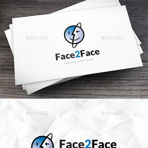 Face2face Logo Template