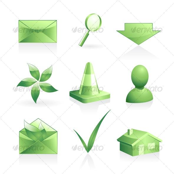 Green symbols - Decorative Symbols Decorative