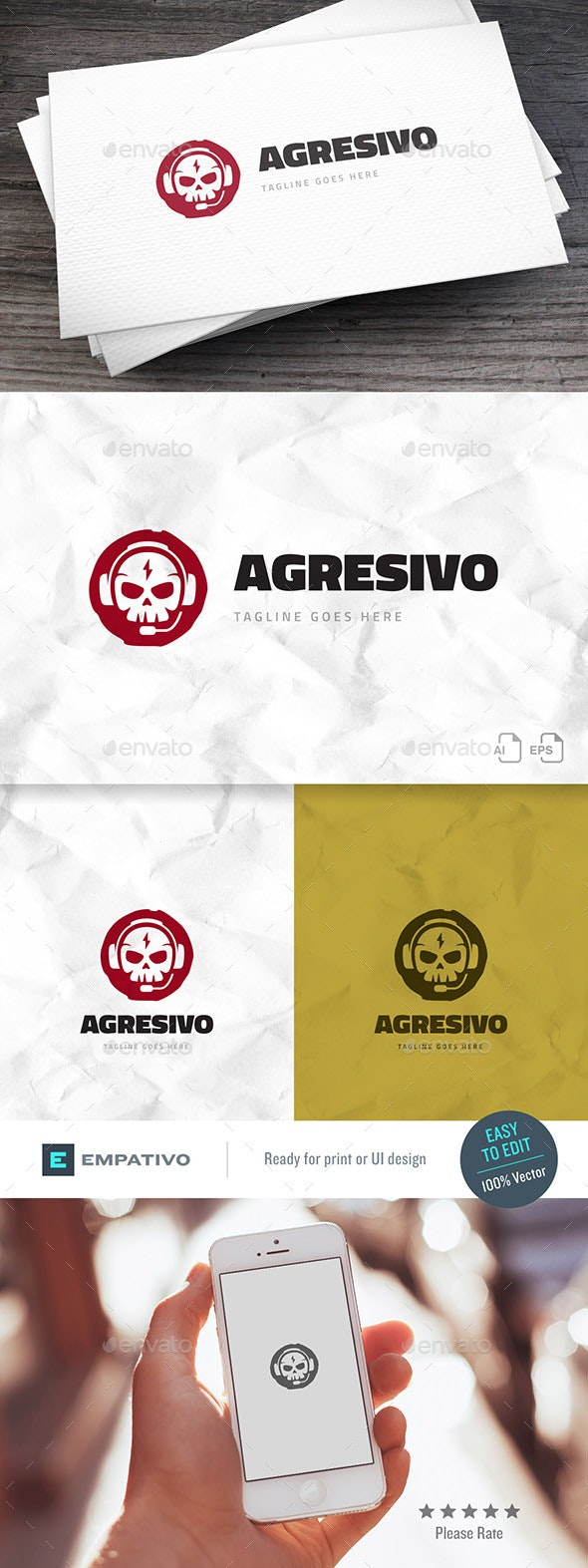 Agresivo Logo Template