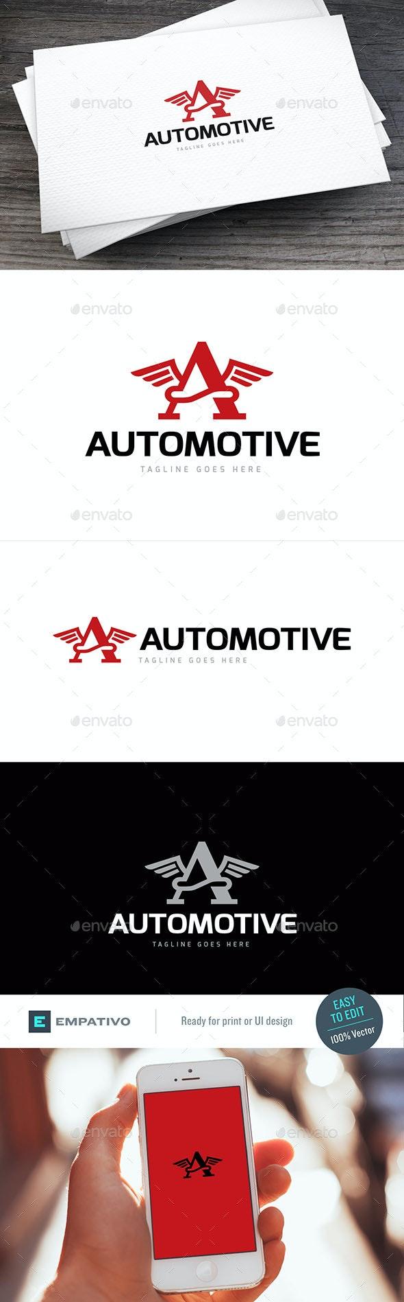 Automotive Letter A Logo Template - Letters Logo Templates