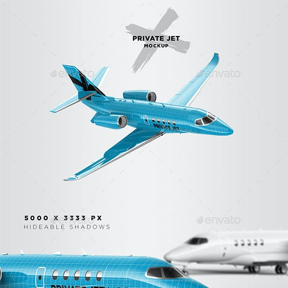 Business / Private Jet Mockup