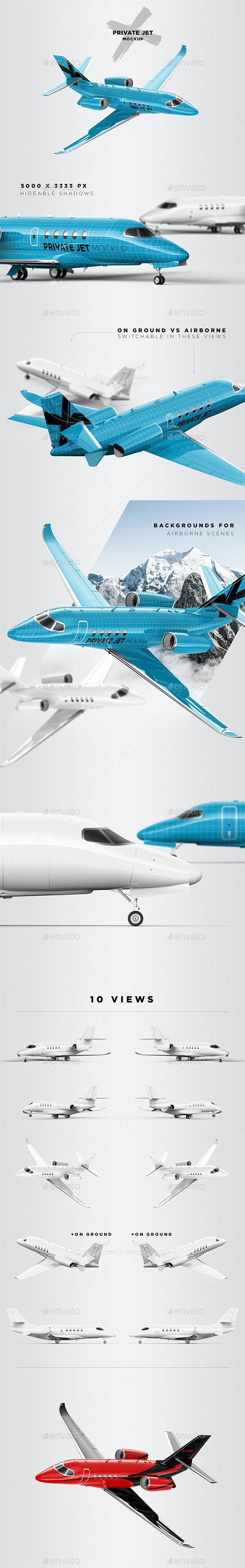 Business / Private Jet Mockup - Vehicle Wraps Print