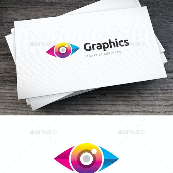 Colored Eye Logo Template