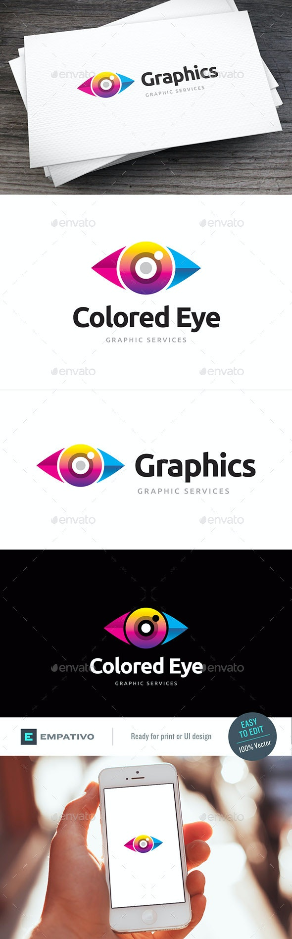 Colored Eye Logo Template - Humans Logo Templates