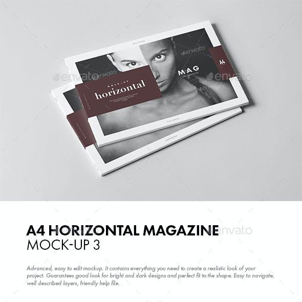 A4 Horiozontal Magazine Mock-up 3