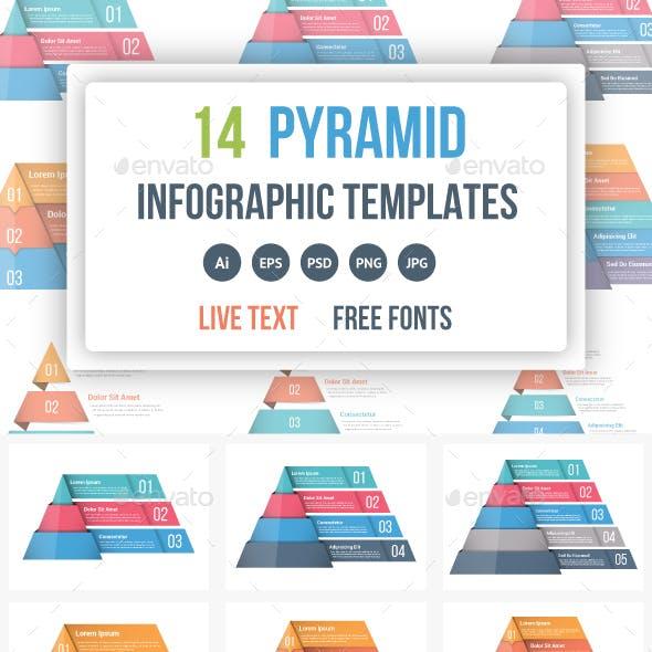Pyramid Infographics Bundle
