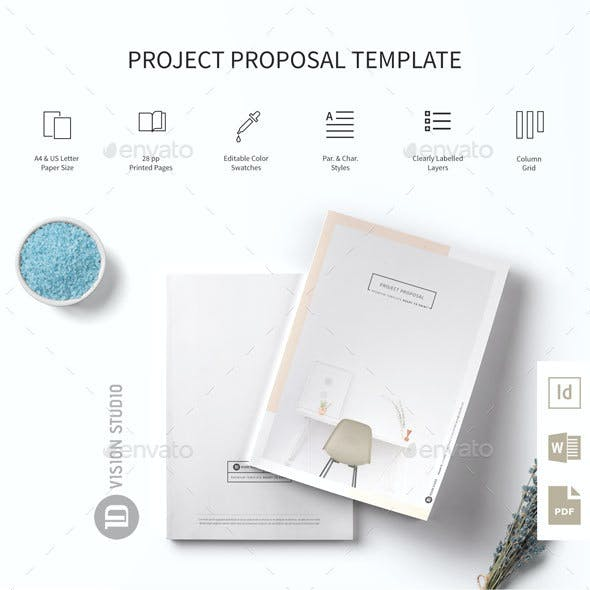 Project Proposal Template 005 Minimalist