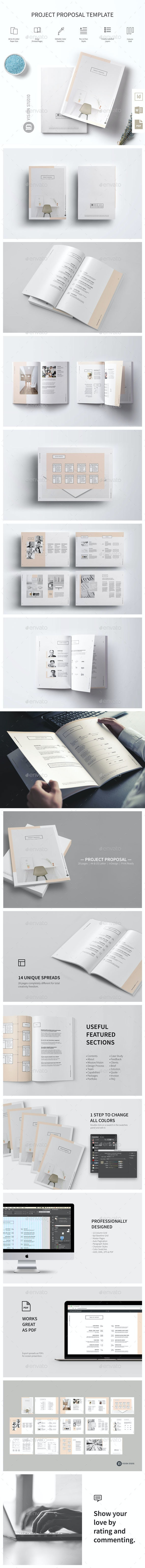 Project Proposal Template 005 Minimalist - Proposals & Invoices Stationery
