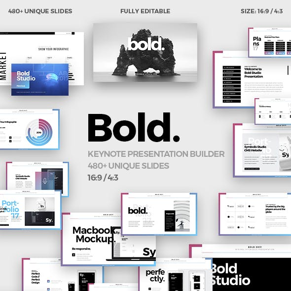Bold Minimal Keynote Template