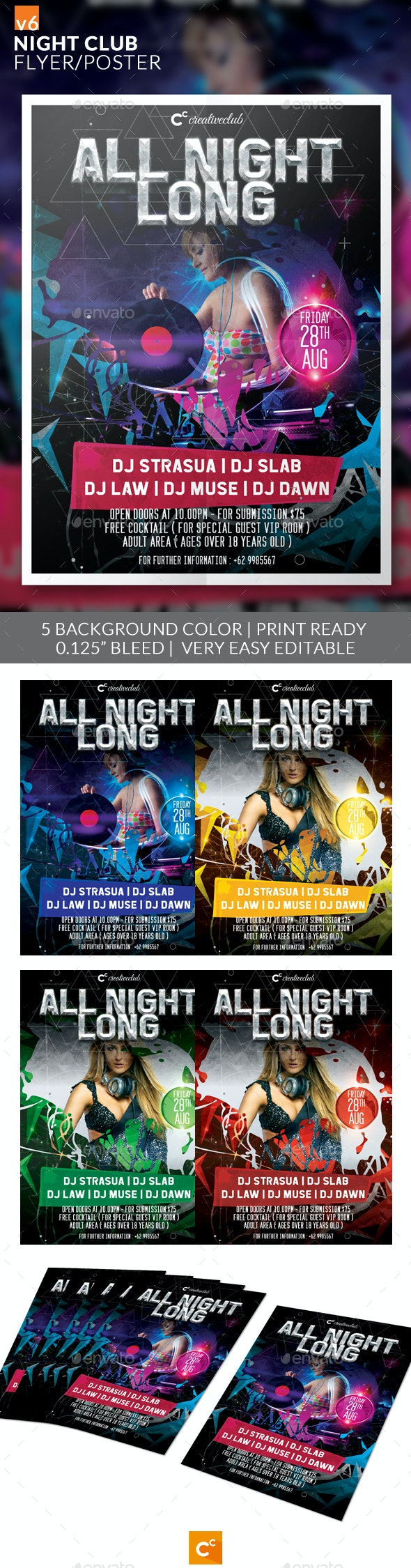 Night Club Flyer/Poster v6 - Clubs & Parties Events