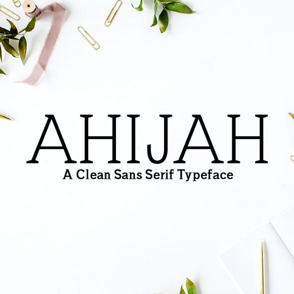 Ahijah A Clean Sans Serif Typeface