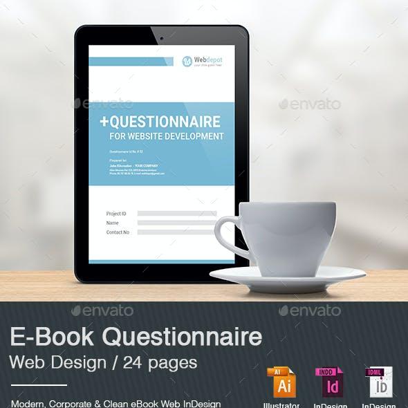 E-Book Questionnaire Web Design