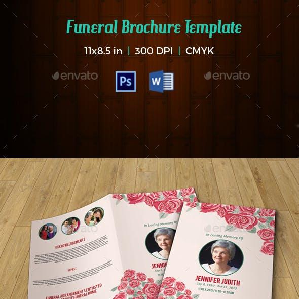 Floral Funeral Template V190