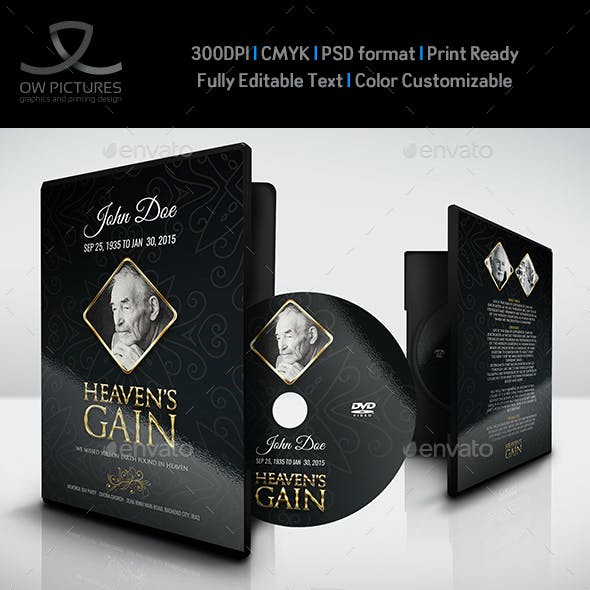 Funeral Ceremonies DVD Cover and Label Template