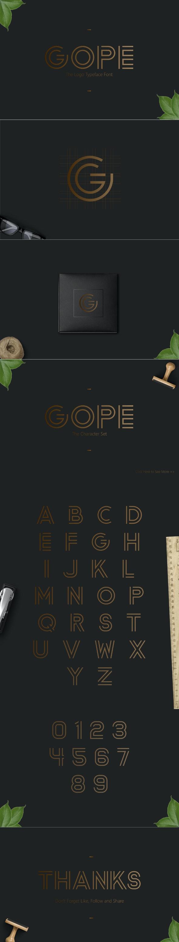 Gope Typeface - Monospaced Sans-Serif