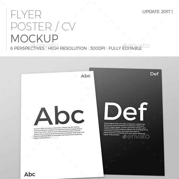 Realistic Flyer/Poster Mockup