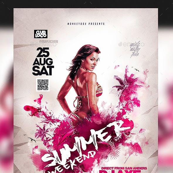 Summer Weekend Flyer
