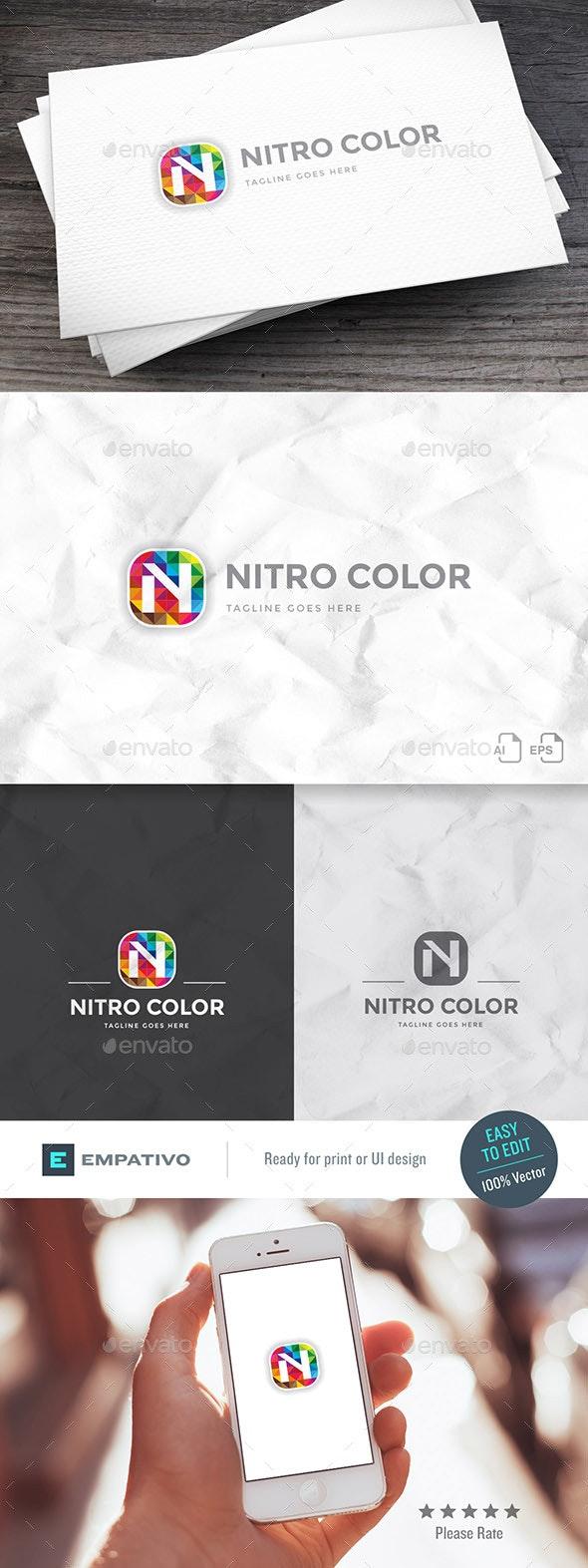 Nitro Color Logo Template - Letters Logo Templates