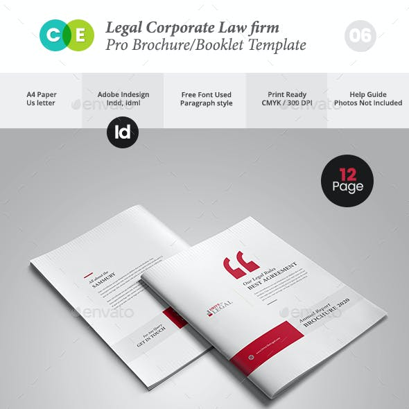 Legal Corporate Law Firm Business Brochure V06