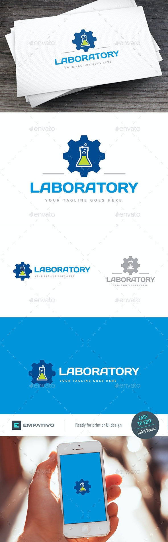 Laboratory Logo Template - Symbols Logo Templates