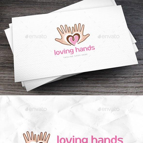 Loving Hands Logo Template