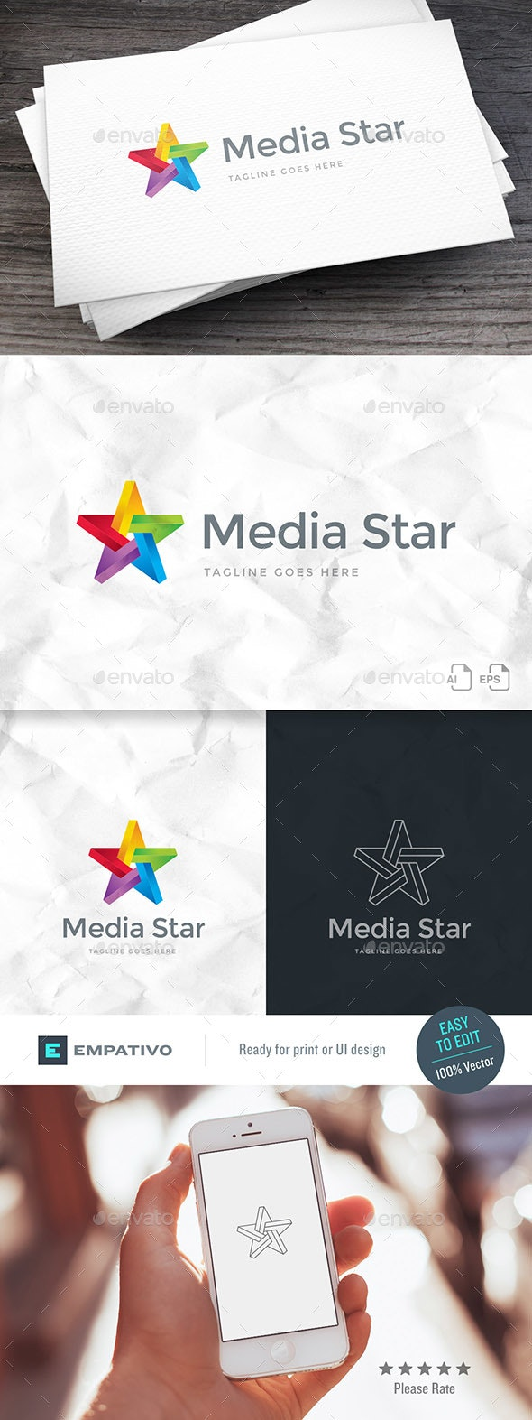Media Star Logo Template