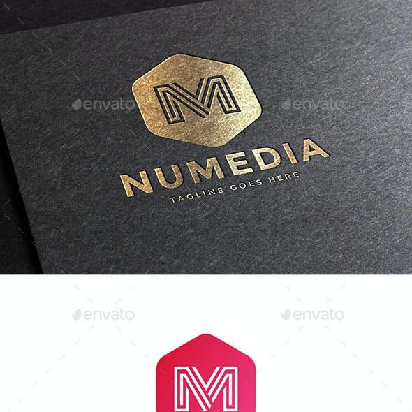 Numedia Letter M Logo Template
