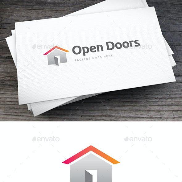 Open Doors Logo Template