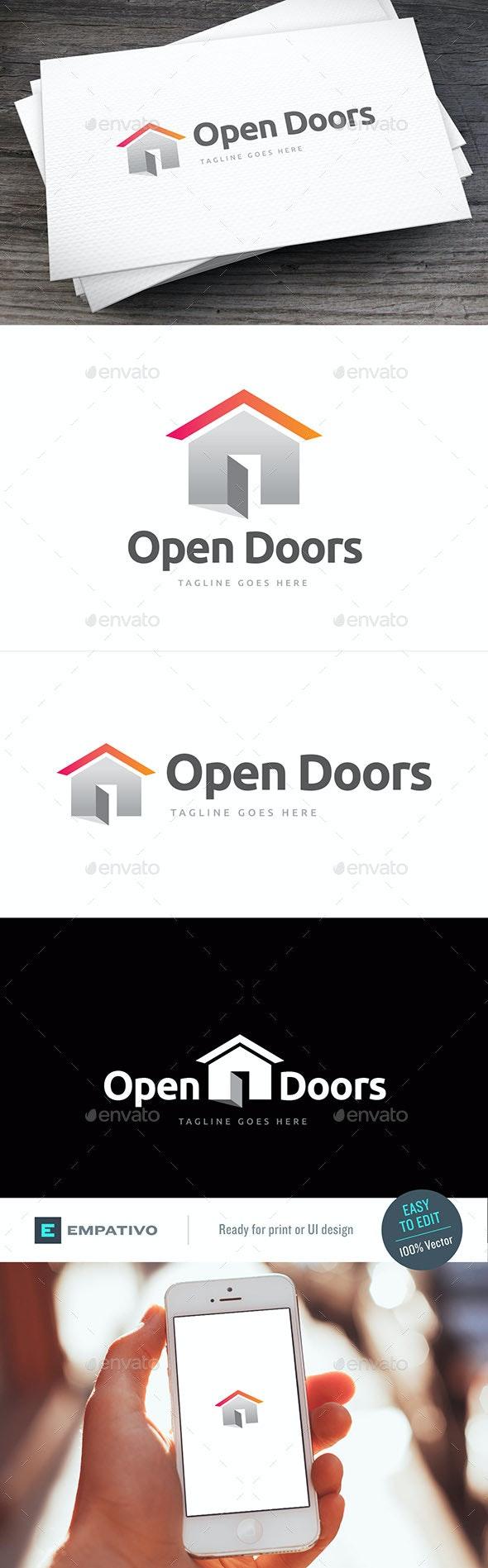 Open Doors Logo Template - Buildings Logo Templates