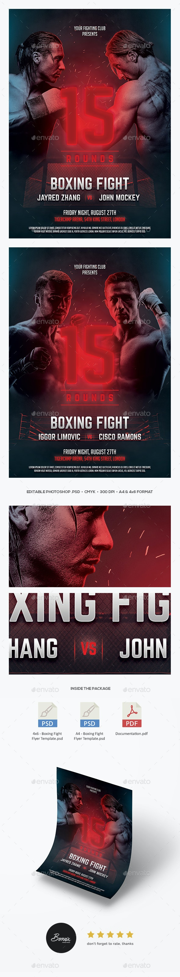 Boxing Fight Flyer - Sports Events