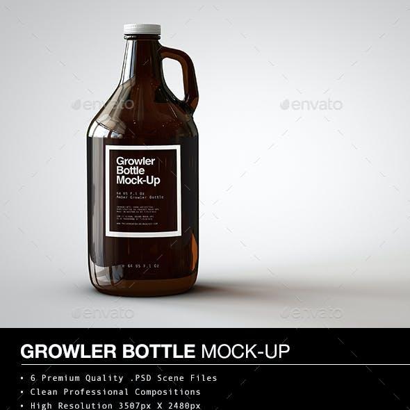 Growler Beer Bottle Mock-Up