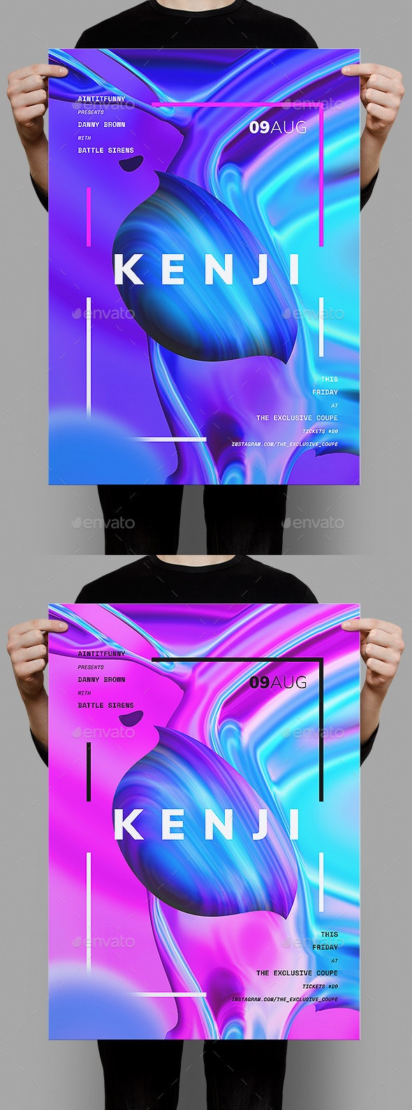 Kenji Poster / Flyer Template - Clubs & Parties Events