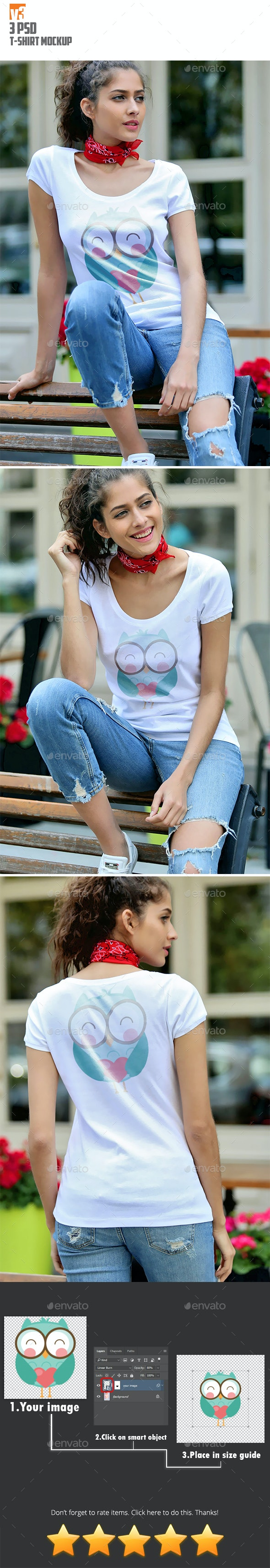 T-Shirt Mockup v3 - T-shirts Apparel