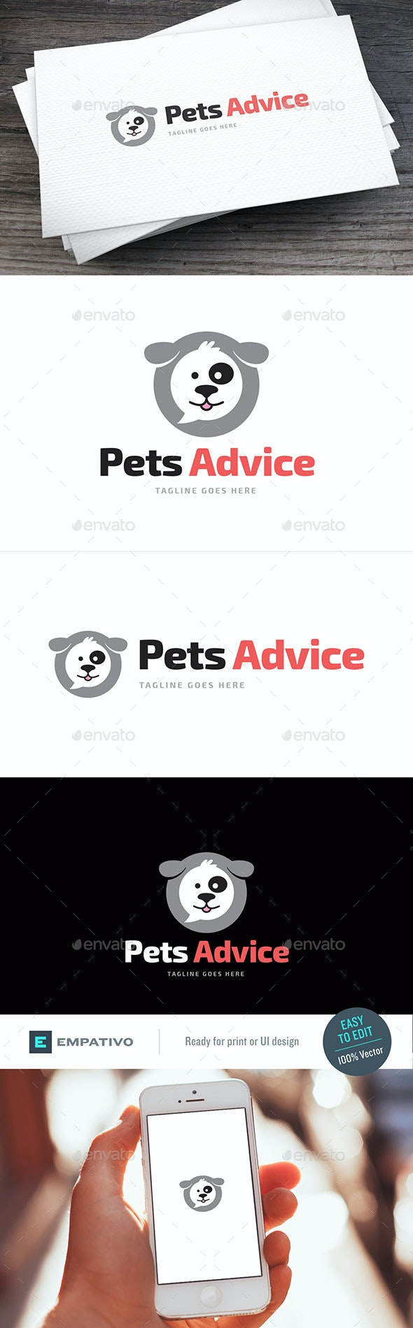 Pets Advice Logo Template - Animals Logo Templates