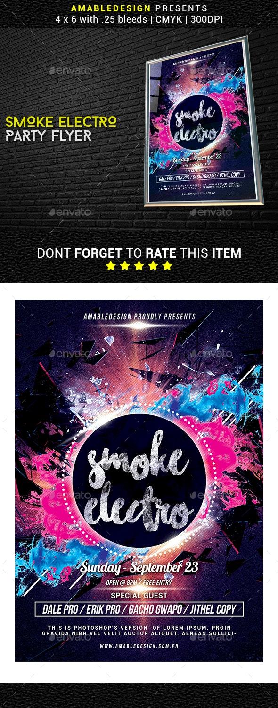 Smoke Electro Flyer - Events Flyers