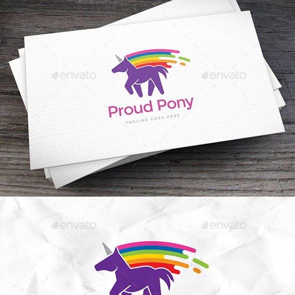 Proud Pony Logo Template