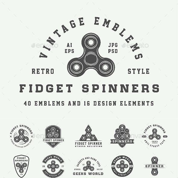 Fidget Spinners Emblems