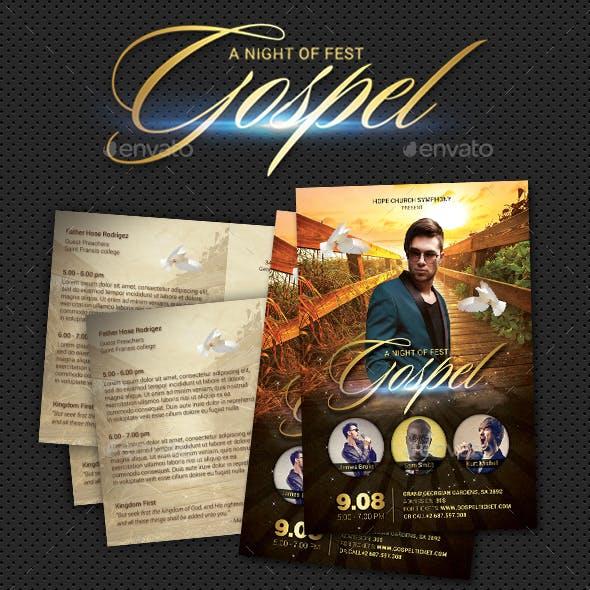 Gospel Fest Postcard