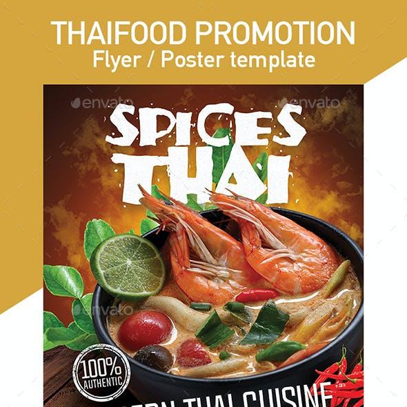 Thai Menu Flyer / Poster Template for Restaurant