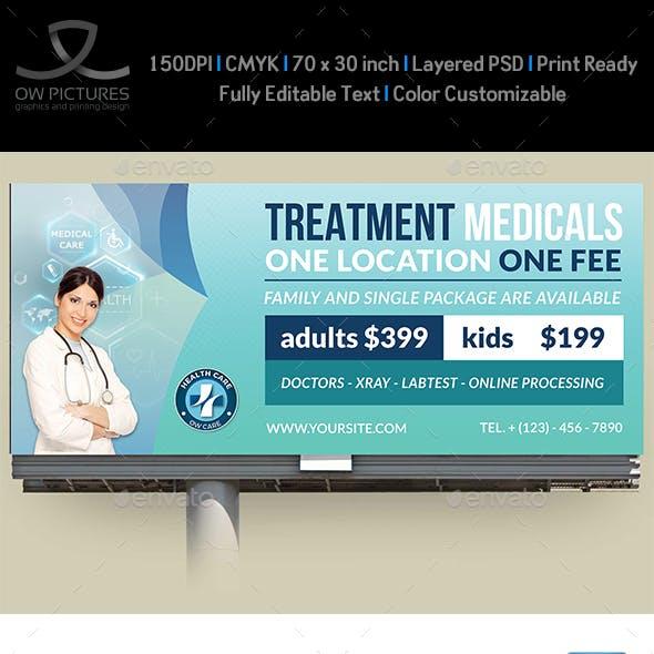 Medical Care Billboard Template Vol.2