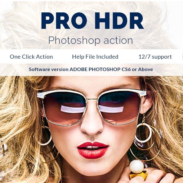 Pro HDR - Photoshop Action
