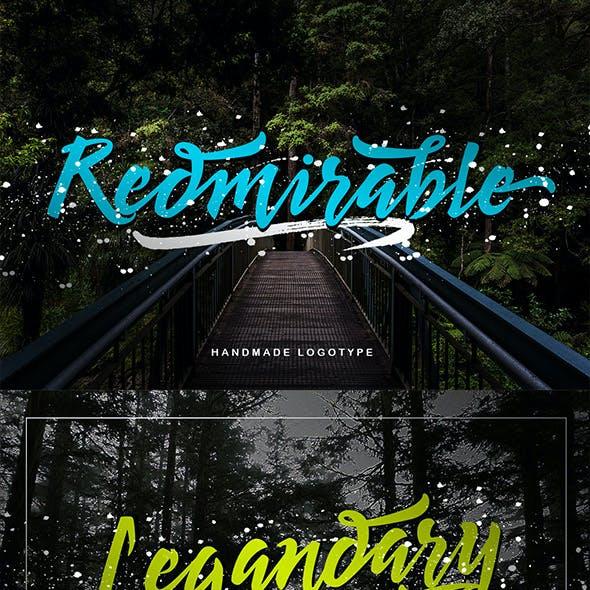 Redmirable Branding Font