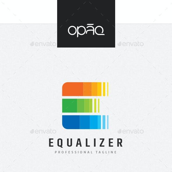 Equalizer E Letter Logo