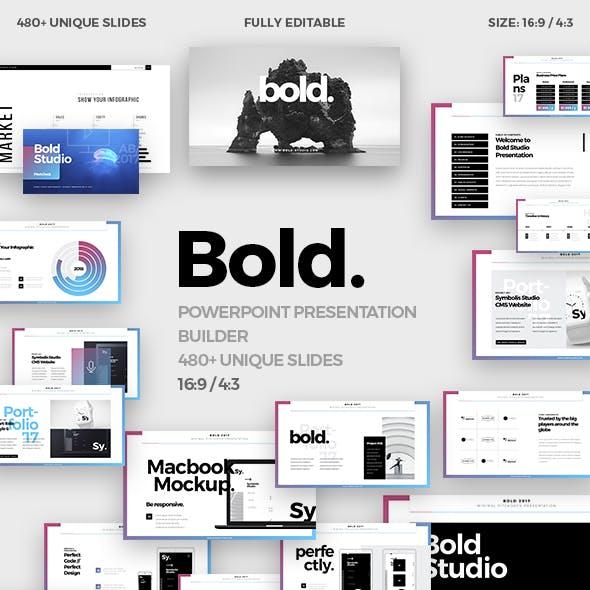 Bold Minimal Powerpoint Template