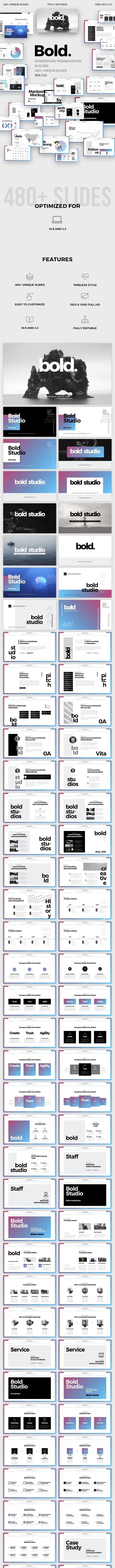 Bold Minimal Powerpoint Template - PowerPoint Templates Presentation Templates
