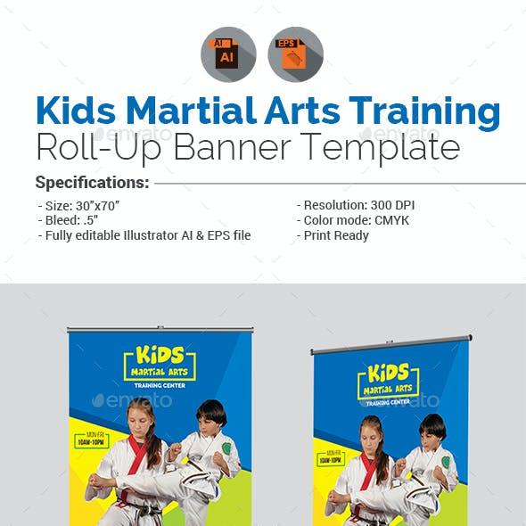 Kids Martial Arts Training Center Roll-Up