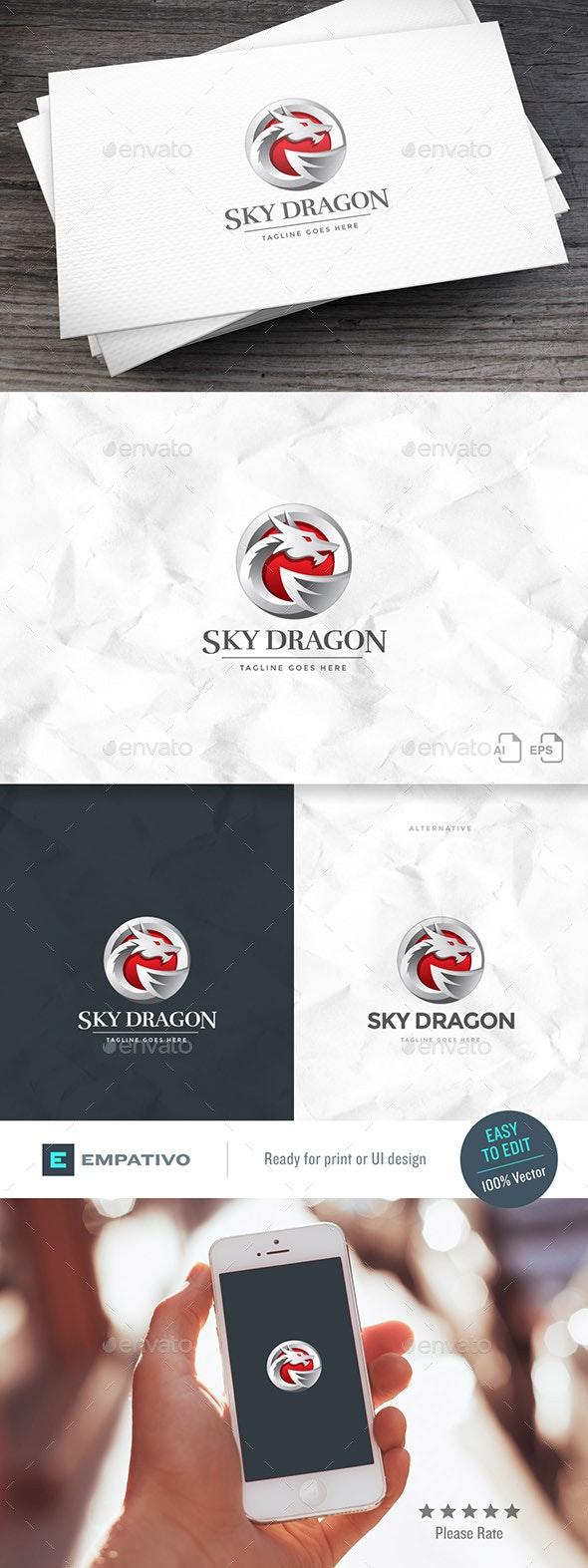 Sky Dragon Logo Template - Animals Logo Templates